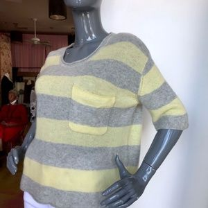 LINE Featherweight Sh. Sleeve Cashmere  Sweater/M